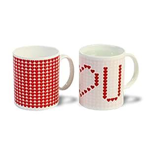 Mug thermique I love you tasse céramique thermo-réactifs