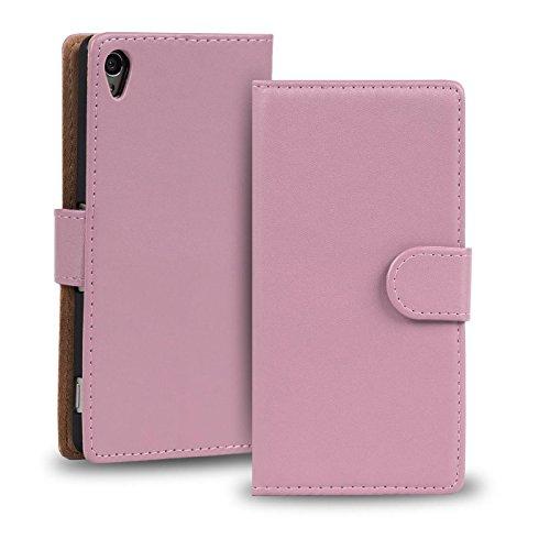 Verco Xperia Z2 Hülle, Handyhülle für Sony Xperia Z2 Tasche PU Leder Flip Case Brieftasche - Rosa