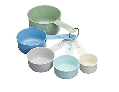 KitchenCraft Living Nostalgia Vintage Messung cups-multi-colour (Set von 5), Edelstahl, mehrfarbig, 8,5x 8x 15,5cm (Cup-messung)