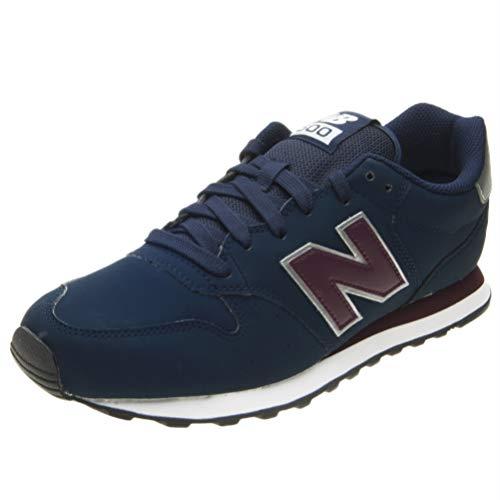 New Balance Herren 500 Sneaker, Blau (Navy/Burgundy Nab), 44 EU