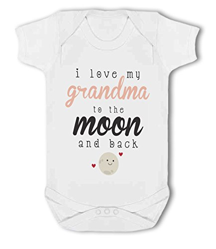 I love my Grandma to the Moon and Back cute - Baby Vest