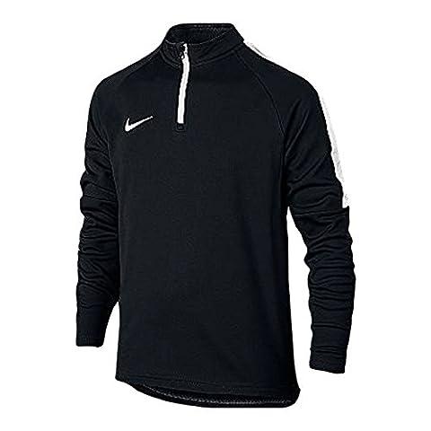 Nike Dry Academy T-Shirt Enfant Noir/Blanc/Blanc FR : L (Taille Fabricant : L)