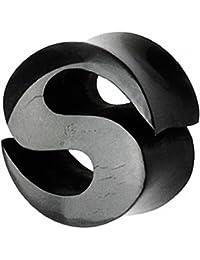 Piersando® Flesh Tunnel Ohr Plug Piercing Ohrpiercing Organic Büffel Horn S Motiv Schwarz