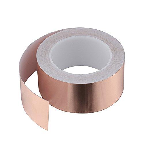 Kupfer Folie Klebeband, Home Netzteil Single Richtung Kupfer Folie Papier Klebeband 0,06mm * 25Super Dünn ableitfähige Klebeband -
