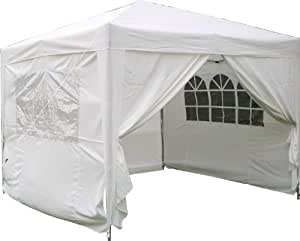Airwave 3x3mtr Pop Up Waterproof Gazebo in White with 2 WindBars and 4 Leg Weight Bags