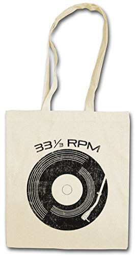 Urban Backwoods Vinyl 33? RPM Hipster Bag - Schallplatte Club Disco Retro Music Plattenspieler Phonograph Record Player Turntable DJ MC Record Collector Disc Mint Retro Addiction