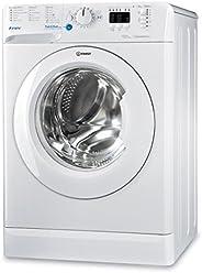 Indesit - BWA - 101283X W FR - Lave linge autonome, charge avant, blanc, boutons, rotatif, gauche, blanc, 10k