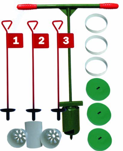 Unbekannt Golf Set Set mit 752175Fahnen, Putting Cups, Covers & Stabilisator Ringe