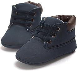 FemmeStopper Romirus Canvas Baby Shoes 9-13 Months (13cm, Blue)