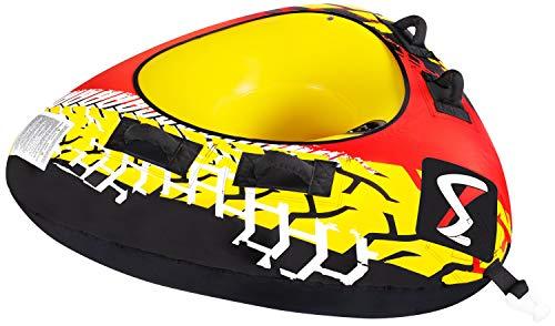 MESLE Tube Delta 56'', Towable-Tube, 1 Person, Fun-Tube, 142 cm Triangel Wasser-Reifen für Kinder & Erwachsne, Wassersport -