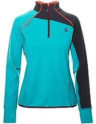 Ternua Adilet 1/2 Zip W Camiseta, Mujer, Verde (Jade), S