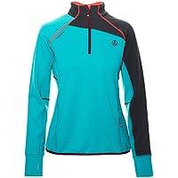 Ternua ® Adilet 1/2 Zip W Camiseta, Mujer, Verde (Jade), XL