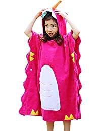 67cb31a7e7 Kids Unicorn Hooded Towel Poncho 100% Cotton Breathable Horned Unicorn  Hooded Beach Towel Cape for