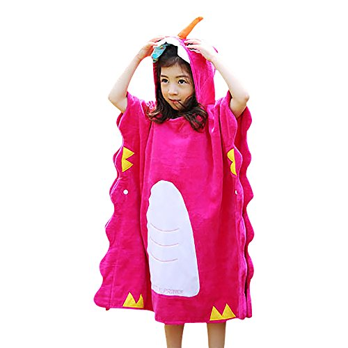 Poncho con capucha para niños de unicornio