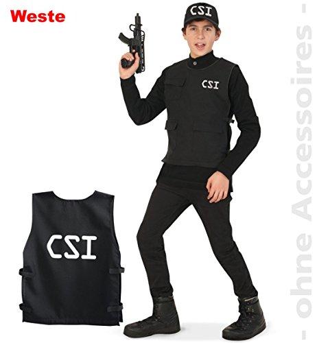 tüm CSI Weste Polizist Karneval Fasching Gr.164 (Csi Kostüm Weste)