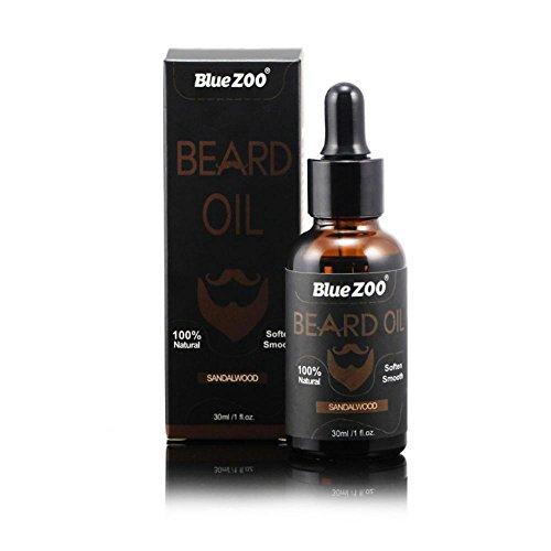 töl, 4 Arten Zitrus Sandale klar Eukalyptus Brot Öl Conditioner Bart Form Öl Schnurrbart(Sandelholz) ()