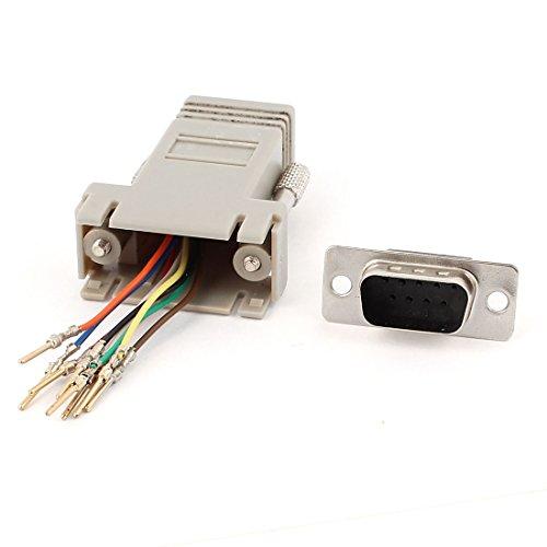 Sourcingmap® RS232DB9-Stecker auf RJ45-Buchse M/F Modular-Adapter Konverter de - Db9 F/f Gender Changer