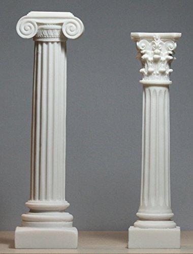 greekartshop Set 2Ionic Griechische Säulen & korinthisches Design-Säule Ständer Decor Skulptur