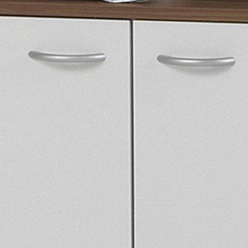 FMD – Waschbeckenunterschrank Madrid 64 x 56,5 x 33 cm zwetschge/weiß - 4