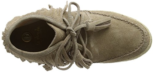 La Strada Natural Coloured Suede Boots With Frings, Baskets Basses Femme Beige - Beige (0207 - cow suede natural)