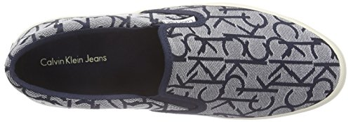 Calvin Klein Jeans Orville Ck Logo Jacquard/Grosg, Chaussons Homme Bleu (NVY)