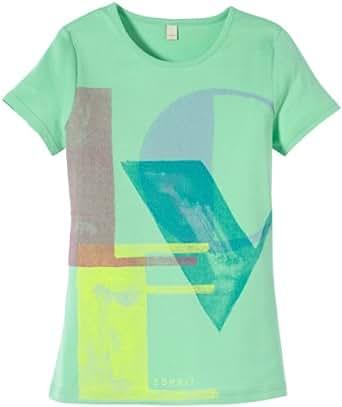 ESPRIT Mädchen T-Shirt LOVE, Gr. 164 (Herstellergröße: L), Türkis (ICED MINT)