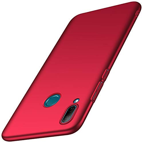 Anccer Capa Huawei P Inteligente 2019, [Alta Qualidade] [Ultra Slim] Anti-Risco Duro PC Case Capa para Huawei P Inteligente 2019 (Smooth Red)