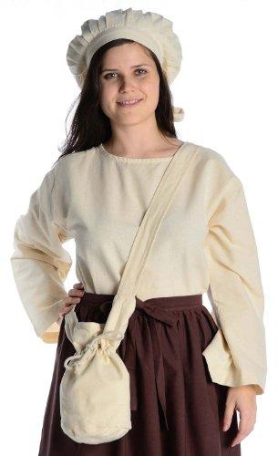 HEMAD-Umhnge-Tasche-Klein-braun-schwarz-rot-grn-blau-beige-BaumwolleLeinenlook-Mittelalter-Kleidung