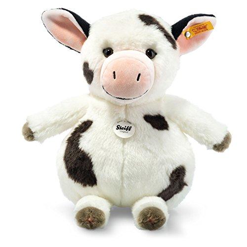 Steiff 283031 - Kuh Cowaloo 35 gefleckt, Traditioneller Plüsch, weiß/schwarz