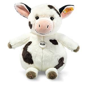 Steiff Happy Farm Cowaloo Vaca Felpa, Sintético Negro, Blanco - Juguetes de Peluche (Vaca, Negro, Blanco, Felpa, Sintético, Vaca, Cowaloo, Niño/niña)