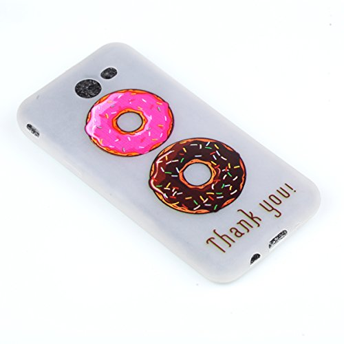 inShang Galaxy J3 (2017) Housse de Protection Etui [Transparent Galaxy J3 (2017) Coque] [Luminous dans l'obscurité]], Ultra mince et léger Case Cover de protection + Qualite inShang Logo Pens Haute St Donuts