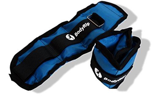 Body Rip - polsiere/cavigliere con pesi, Unisex, Wrist/Ankle Weights, blu - blu, 32 cm/2 x 2 kg