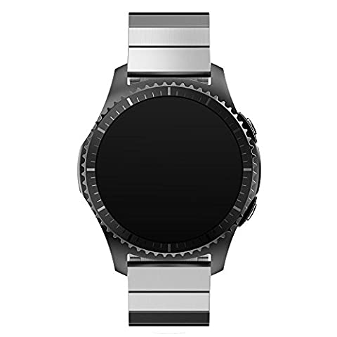 21mm Armbanduhr Band, happytop Edelstahl Armband Ersatz Handschlaufe für Samsung Gear S3Frontier S