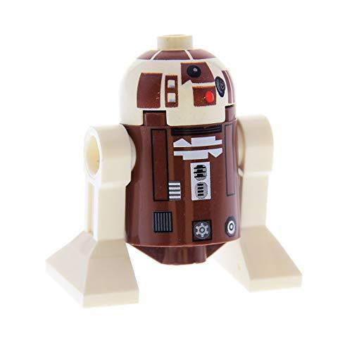 Bausteine gebraucht 1 x Lego System Figur Star Wars Droid Droide R7-D4 braun weiss Set Clone Wars Plo Koon's Jedi Starfighter Astromechdroide R7 D4 8093 sw119