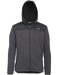 Jeep Man Tricotfleece Jacket W/Hood Sweat, Dark Grey