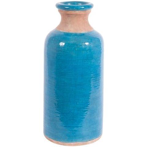 Ian Snow - Vaso effetto crettato Glaze Amari, blu