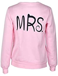 SMARTLADY 1PC Pareja Amante De Manga Larga MR & MRS Tops De Manga Larga Camiseta Sudaderas
