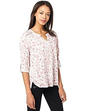 Tom Tailor für Frauen Shirt / Blouse Blusenshirt mit floralem Muster Charming Mauve 38