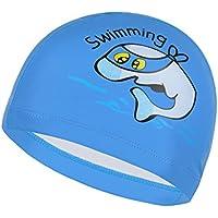IvyH Niños Natación Cap - Niños Unisex Niños Transpirable Natación Sombrero Impermeable Nadar Cap Cartoon Dolphin Patrones