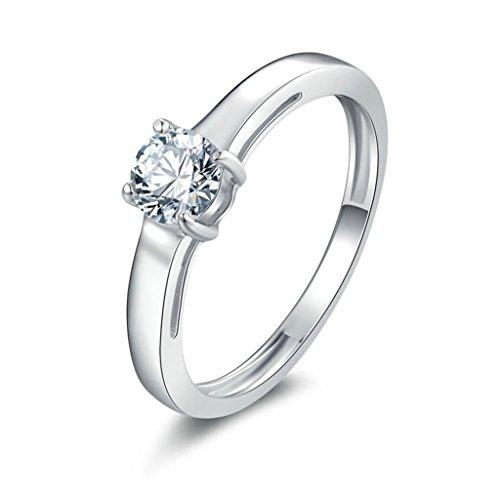 Anyeda Memory Ring Silber 925 Damen Runde Cz Silber Graviert Ringe 57 (18.1)