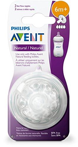 Philips-Avent-Natural-Baby-Bottle-Nipple-Fast-Flow-Nipple-6M-2pk-SCF65423