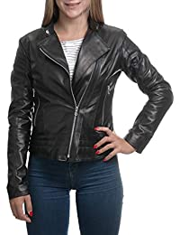 OKPELLE THE LEATHER MARKET Giacca Biker Donna in Vera Pelle di ovino Made  in Italy - 18656964699