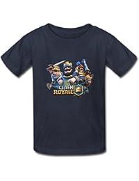 Nanciy Waird® Kinder's Clash Royale Game Fan Art Round Collar T Shirt (XXXX-Large)