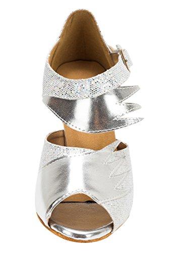 TDA ,  Damen Peep Toes 8cm Heel Silver