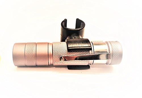 3,5 Unzen Spray (flexSTICK Flexbrite Led Clip-On-Taschenlampe Dunkle Aluminiummetallgrau)