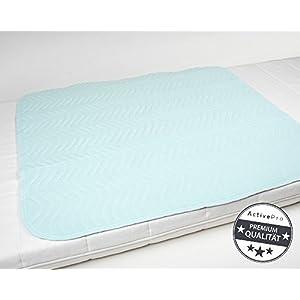 Inkontinenzunterlage waschbar | 85×90, 5-lagig | Krankenunterlage | Bettschutzauflage | Inkontinenzauflage ActivePro