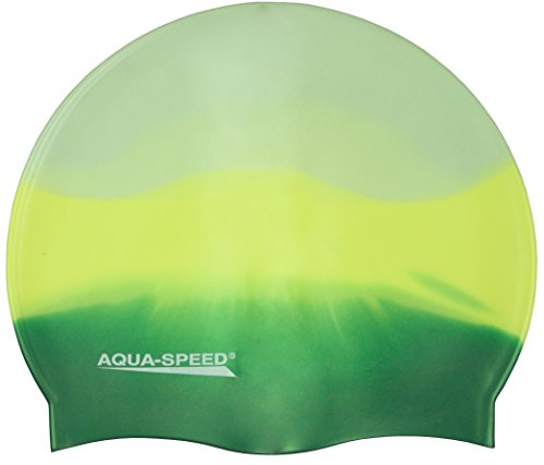 Aqua Speed® Badekappe Silikon / BUNT / Bademütze, Badehaube - be fancy, be freaky! 24. Bunt / 72