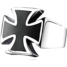 Inception Pro Infinite Mlt - Anillo - Cruz de Malta - Color Negro y Plateado -