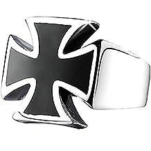 Inception Pro Infinite Mlt - Anillo - Cruz de Malta - Color Negro y Plateado -