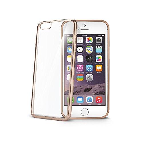 "Celly LASER800GD 4.7"" Funda Oro, Transparente Funda para teléfono móvil - Fundas para teléfonos móviles (Funda, Apple, iPhone 7, 11,9 cm (4.7""), Oro,"